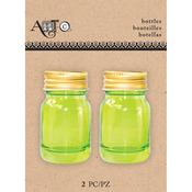 Mason Green, 2/Pkg - Art-C Mini Glass Bottles