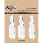 Mini Clear Champagne, 3/Pkg - Art-C Mini Glass Bottles