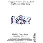 "Floppy Bunny - Whipper Snapper Cling Stamp 4""X6"""