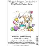 "Jellybean Bunny - Whipper Snapper Cling Stamp 4""X6"""