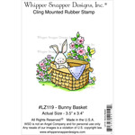 "Bunny Basket - Whipper Snapper Cling Stamp 4""X6"""