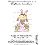 "I'm The Easter Bunny - Whipper Snapper Cling Stamp 4""X6"""
