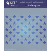 "Field Of Stars - Judikins Kite Stencil 6"" Square"