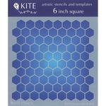 "Honeycomb - Judikins Kite Stencil 6"" Square"