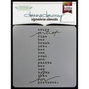 "Artist Soul - Donna Downey Signature Stencils 8.5""X8.5"""