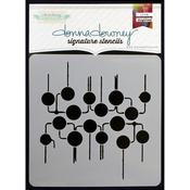 """Circuit Board - Donna Downey Signature Stencils 8.5""""X8.5"""""""