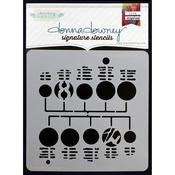 """Circuit Board #2 - Donna Downey Signature Stencils 8.5""""X8.5"""""""