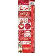Romantique Cardstock Combo Sticker Sheet - Reminisce