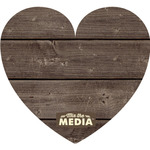 "Heart 11""X9.75"" - Mix The Media Wooden Plank Plaque"