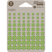 Green - Adhesive Back Sequins 5mm, 8mm And 10mm, 72/Pkg