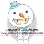 "Frosty - Pollycraft Cling Stamp 3""X1.83"""