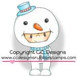 "Frosty - Pollycraft Cling Stamp 3""X1.83"""