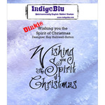 "Wishing You The Spirit Of Christmas - IndigoBlu Cling Mounted Stamp 3""X3"""