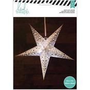 """White - Heidi Swapp 5-Point Star Paper Lantern 17"""""""