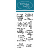"Planner - Thanks - Technique Tuesday Clear Stamps 2""X4"""