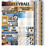 "Volleyball Cardstock Sticker 12""X12"""