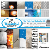 """Volleyball - Reminisce Collection Kit 12""""X12"""""""