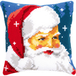 "16""X16"" - Kind Santa Cushion Cross Stitch Kit"