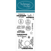 "Planner - December Story - Technique Tuesday Clear Stamps 2""X4"""