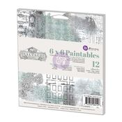 Salvage District 6 x 6 Paintable Paper Pad - Prima