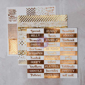 Foil Washi Stickers, Set 1 - Prima