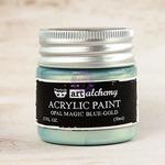 Blue Gold Acrylic Paint Opal Magic - Art Alchemy - Finnabair