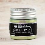 Green Gold Acrylic Paint Opal Magic  - Art Alchemy - Finnabair
