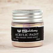 Rose Gold Acrylic Paint Opal Magic  - Art Alchemy - Finnabair