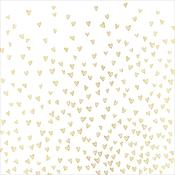 Dearest Gold Foil Vellum Sheet - Hello Love - Crate Paper