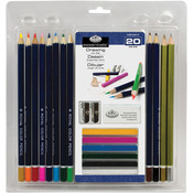 Drawing 20pc - Clamshell Art Sets