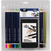 Drawing Pencil W/Sketchbook 13pc - Clamshell Art Sets