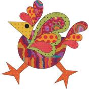 Funky Chicken - Dotz #4 Large - Urban Elementz Fusible Applique