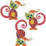 Santa's Little Helpers - Cat Set - Urban Elementz Fusible Applique
