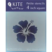 "Hibiscus - Judikins Kite Petite Stencil 4"" Square"