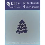 """Snowy Tree - Judikins Kite Petite Stencil 4"""" Square"""