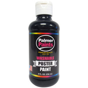 Black - Washable Poster Paint 8oz