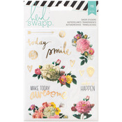 Floral - Heidi Swapp Memory Planner Clear Stickers