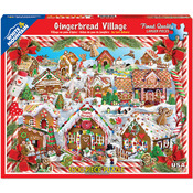 "Gingerbread Houses - Jigsaw Puzzle 1000 Pieces 24""X30"""