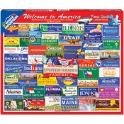 """Welcome To America - Jigsaw Puzzle 1000 Pieces 24""""X30"""""""