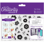 Folk Floral - Creativity Essentials A6 Clear Stamp Set 40/Pkg
