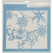 "Snow Flurries - Rebecca Baer Stencil 11.75""X11.75"""