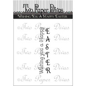 """Wishing You A Happy Easter - Two Paper Divas Clear Stamps 6""""X4.5"""""""