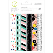 """Seven Paper Goldie Washi Tape Stickers 4.25""""X6.25"""" 4/Sheets"""