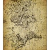 "World Map 2 - Craft Consortium Decoupage Papers 13.75""X15.75"" 3/Pkg"