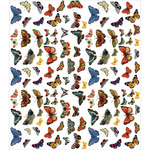 "Flutter Of Butterflies - Craft Consortium Decoupage Papers 13.75""X15.75"" 3/Pkg"