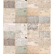 """Vintage Postcard Script - Craft Consortium Decoupage Papers 13.75""""X15.75"""" 3/Pkg"""