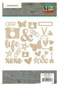 Life In Color Wood Veneer Pieces - Simple Stories