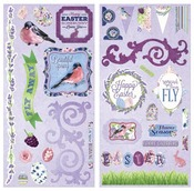Secret Garden Self-Adhesive Chipboard - Bo Bunny