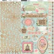 """Soiree Combo Stickers 12""""X12"""" - Bo Bunny"""
