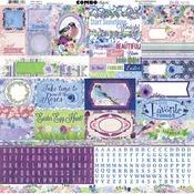 "Secret Garden Combo Stickers 12""X12"" - Bo Bunny"